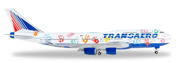 Herpa 528818 - Boeing 747-400 Transaero - Flight Of Hope
