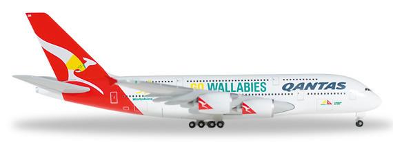 Herpa 528917 - Airbus 380 Qantas - Wallabies