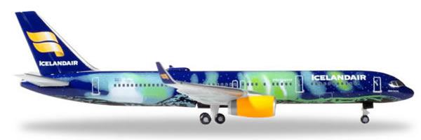Herpa 529129 - Boeing 757-200 Icelandair - Hekla Aurora