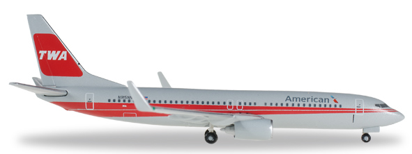 Herpa 529259 - Boeing 737-800 American - TWA Heritage