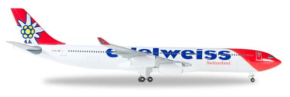 Herpa 529495 - Airbus 340-300 Edelweiss