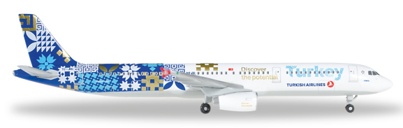 Herpa 529532 - Airbus 321 Turkish Airlines, Discover Potential