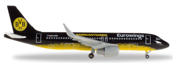 Herpa 529600 - Airbus 320 Eurowings, BVB Mannschafts-Airbus