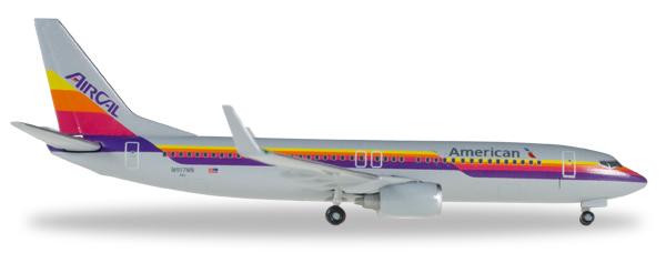 Herpa 529631 - Boeing 737-800 American Airlines, Air Cal Heritage