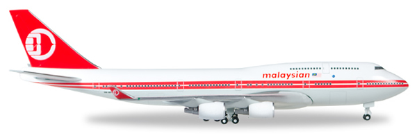 Herpa 529679 - Boeing 747-400 Malaysia Airlines, Retro