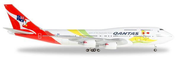 Herpa 529914 - Boeing 747-400 Qantas - Rio 2016
