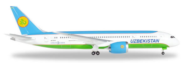 Herpa 530040 - Boeing 787-8 Uzbekistan Airways
