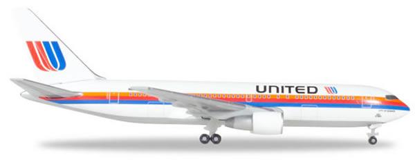 Herpa 530187 - Boeing 767-200 United, Rainbow/Saul Bass, Denver