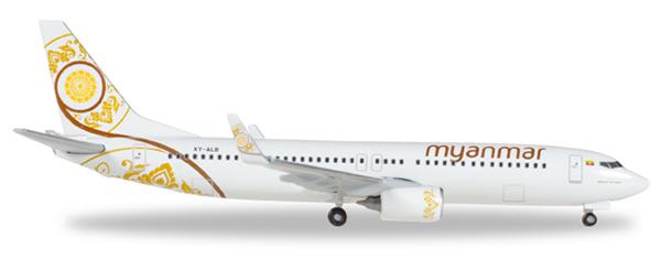 Herpa 530538 - Boeing 737-800 Myanmar Airlines