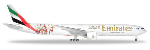 Herpa 530880 - Boeing777-300er Emirates, Hamburger SV