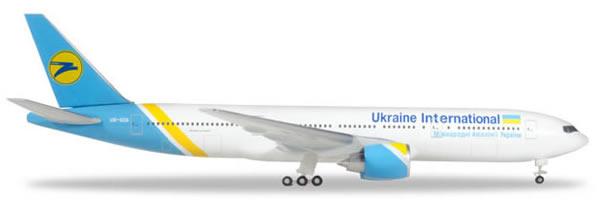 Herpa 531122 - Boeing 777-200 Ukraine International Airlines