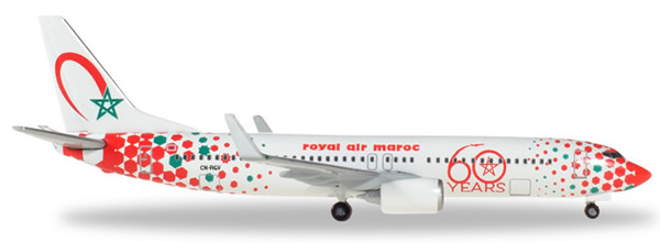 Herpa 531153 - Boeing 737-800 60th Anniversary Royal Air Maroc