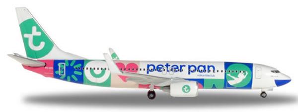 Herpa 531450 - Boeing 737-800 Transavia, Peter Pan Holiday Club