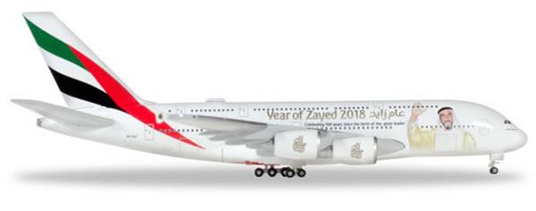 Herpa 531535 - Airbus 380 Emirates, Year Of Zayed