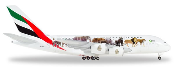 Herpa 531764 - Airbus 380 Emirates, United For Wildlife
