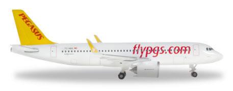 Herpa 531788 - Airbus 320NEO Pegasus Airlines