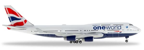 Herpa 531924 - Boeing 747-400 British Airways, Oneworld