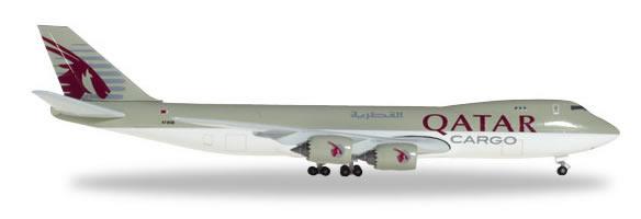 Herpa 531993 - Boeing 747-8f Qatar Airways Cargo