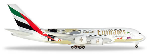 Herpa 532723 - Airbus 380 Emirates, United For Wildlife
