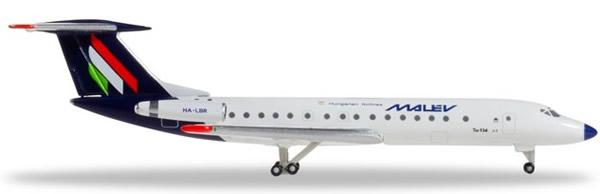 Herpa 532914 - Tupolev Tu-134a Malev Hungairian Airlines