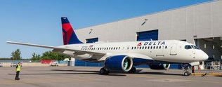 Herpa 532952 - Airbus 220-100 Delta Airlines