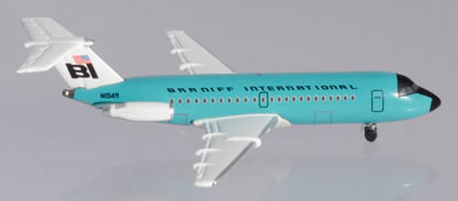 Herpa 533010 - Bac 1-11-200 Braniff,  Jelly Bean Turquoise