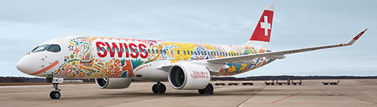 Herpa 533584 - Airbus A220-300 Swiss International, Fete Des Vig...