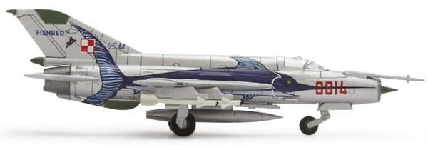 Herpa 552363 - Mig-21 MF3 (47.50) Polish Air Force