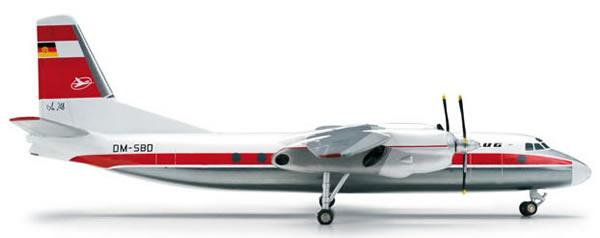 Herpa 554375 - Antonov 24V (84.95) 554374-001 Interflug