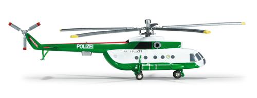 Herpa 554893 - Mil 8T Helicopter (58.95) Police Brandenburg