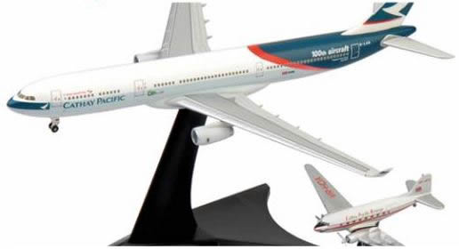 Herpa 562089 - Airbus 330-300 (129.95) And DC-3 Cathay Pacific -...
