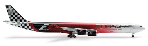 Herpa 562119 - Airbus 340-300 Etihad - Formula 1