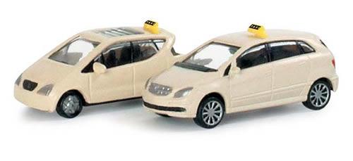 Herpa 65375 - passenger cars set Taxi (Mercedes-Benz A-Class/Mercedes-Benz B-Class)