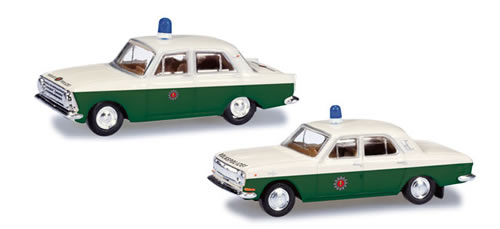 Herpa 66006 - Volga M 24 And Moskvitch 408 Police Cars