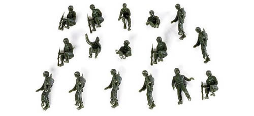 Herpa 741217 - 16 US Soldiers 154 US Army