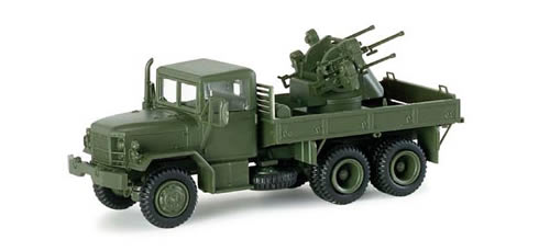Herpa 741538 - M35 Trck w/4Barrel AA Gun