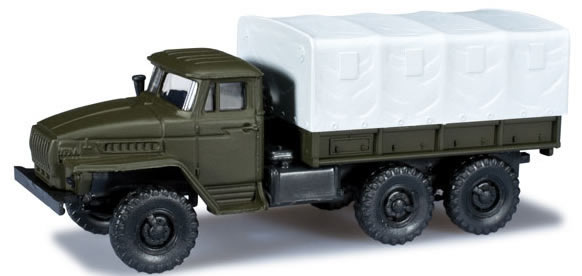 Herpa 744560 - Ural Canvas-Covered Truck