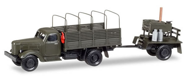 Herpa 746137 - Zil 151 Canvas Truck/Trlr And Field Kitchen