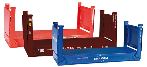 Herpa 76579 - 20 Flat Containers (3 Pieces)
