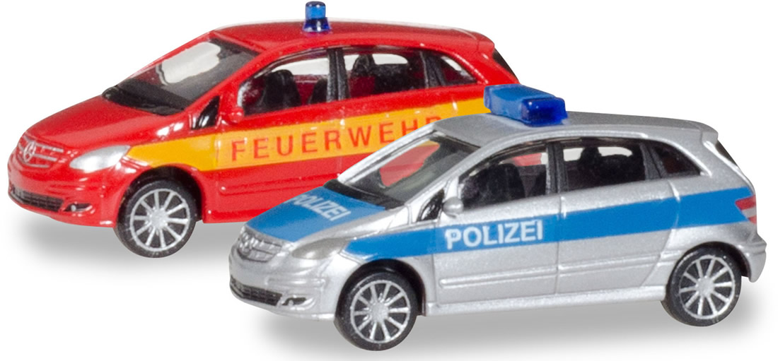 Herpa 66549 - Mercedes B Class Police/Fire Department