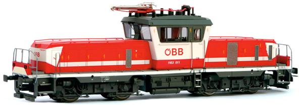 Jagerndorfer JC14632 - Austrian Electric Locomotive 1163.011 of the OBB (Sound Decoder)