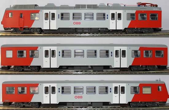 "Jagerndorfer JC404003 - Austrian 3pc Electric Railcar Set 4020.297 ""Amstetten"" of the OBB"
