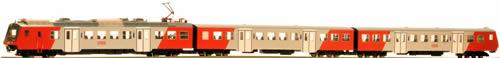 """Jagerndorfer JC408001 - Austrian 3pc Electric Railcar Set 4020.296 """"Wien FJB"""" of the OBB"""