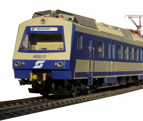 Jagerndorfer JC40902 - Austrian Electric Railcar 4020.17 of the OBB (DCC Sound Decoder)