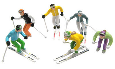 Jagerndorfer JC54400 - 6 Figures with Ski Poles