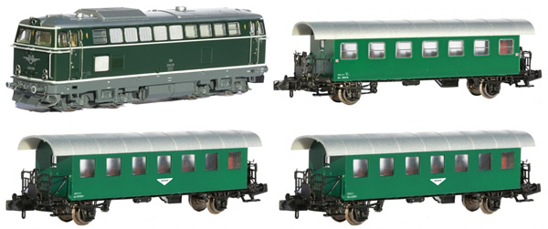 Jagerndorfer JC60402 - Austrian Diesel Locomotive BR 2143.040 with 3 Passenger Coaches of the OBB