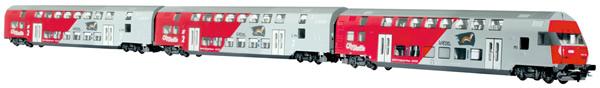 Jagerndorfer JC76602 - 3pc Austrian Diesel City Shuttle Wiesel of the OBB