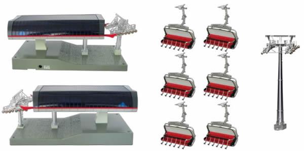 Jagerndorfer JC82464 - Cable Car Starter Set - Red/Gray/Black