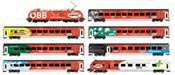 Austrian 7pc Railjet Set + Taurus Locomotive of the OBB (Sound)