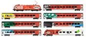 Austrian 7pc Railjet Set + Taurus Locomotive of the OBB (Sound)